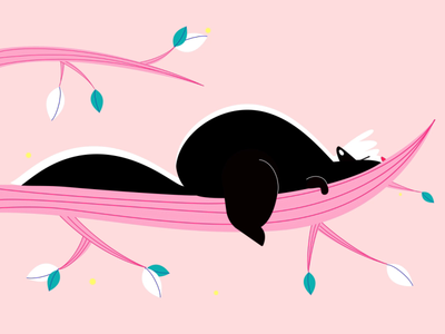 Spring Vibes pet animal spring skunk character animation 2d character motion design animation