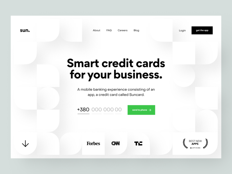 Product page: Header customer service product page landing page landing web site website site web web design marketing page e-finance financial services product design banking finance fintech accounting credit card bank