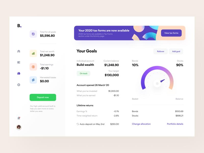 Investing platform: Portfolio