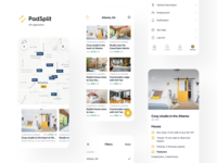 PadSplit: iOS app application renting membership property management rental property online portals apartment proposals offers split house room listings search affordable housing saas mobile app mobile ios rental real estate