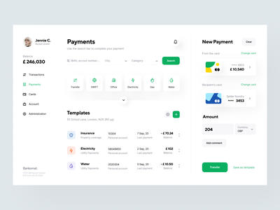 Bankomat: Payments website web design web design system user interface visual identity identity product design transfer template app design interface fintech finance services payment transaction banking app application