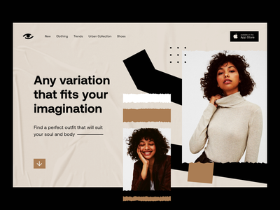 eCommerce: Homepage promo eshop e-shop website design store fashion commerce web page web site web landing page product page shop ecommerce e-commerce