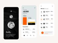 finfly: splash, overview, bills mobile design mobile user interface interface fintech finance app application