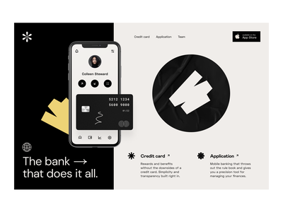 fintech: neobank marketing page landing page header homepage marketing page finance fintech product page product design