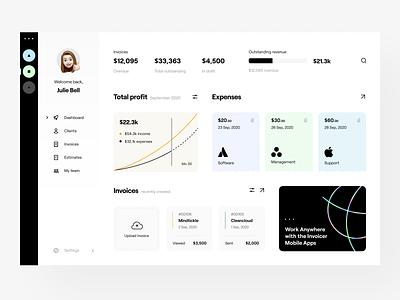 fintech: dashboard user interface application app design app fintech finance user interface dashboad