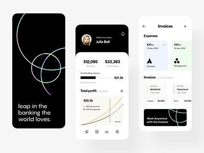 finance: mobile interface mobile design mobile app design fintech app fintech financial app finance app finance banking app banking neobanking app neobanking app design app