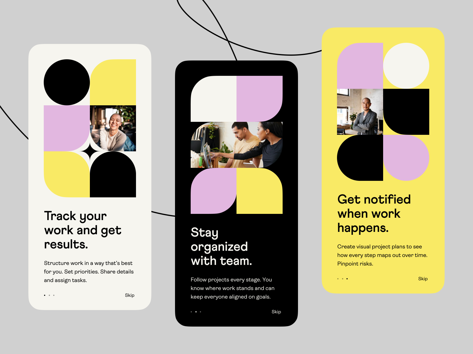 people: mobile app onboarding