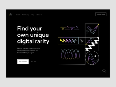 NFT: landing page web design crypto nft product page landing web page web site website web landing page