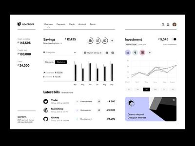 dashboard: overview app design overview dashboard fintech finance application web app app