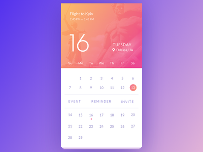 Calendar ios day month note reminder event kyiv app calendar