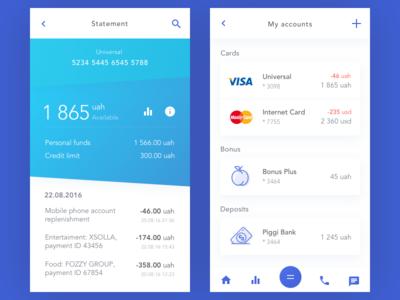 Bank Account mobile ios income deposits bonus balans master visa card bank