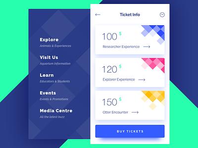 Ticket Info stylish price ios menu buy app ticket