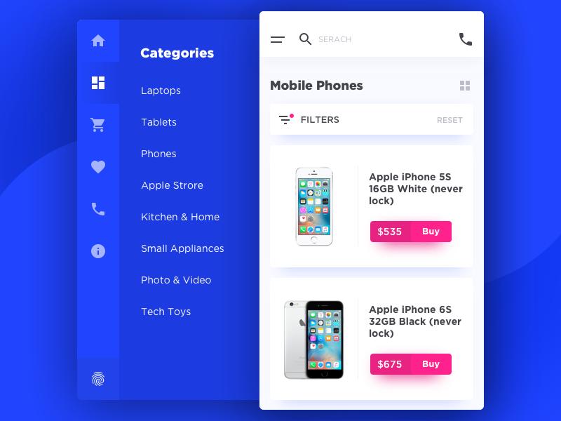 eCommerce odessa nav categories filter catalog menu buy shop ecommerce