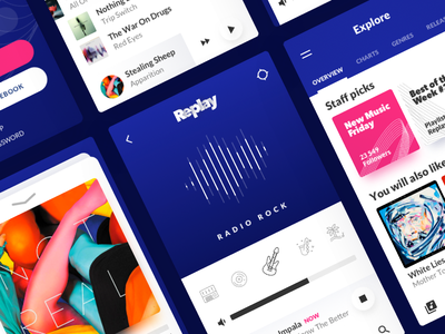 Replay web concept mobile ios app music desktop behance