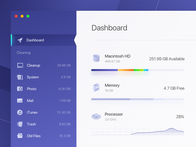 Cleaner saas isometric icons icon memory dashboard cleaner apple app mac os mac