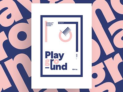 Playground ◼️ typography poster playground wix