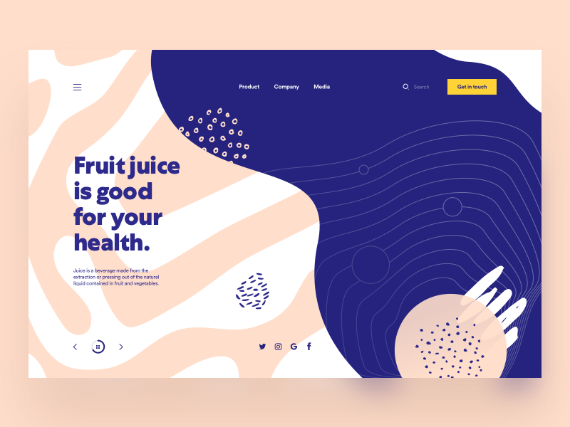 Organic Shapes product design product page web design web page desktop landing page organic shapes website web site header