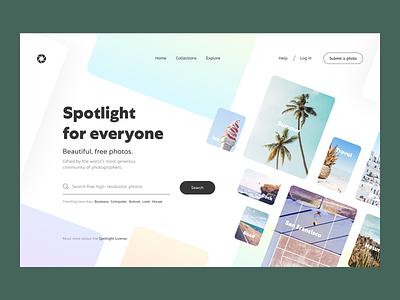 Spotlight: Photostock menu photo search web header