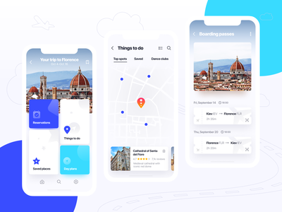 Itinerary guide day plans fly map guide reservation trip mobile ios app