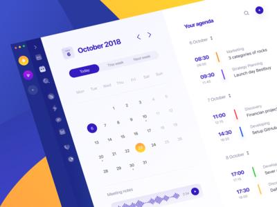 Agenda: Calendar