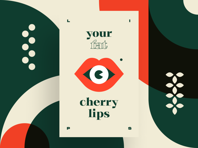 Poster: Fat Lips print work vector brand illustration print poster design type poster typography
