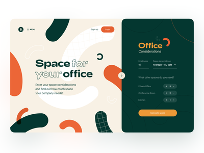 Space Finder landing page product page website web finance fintech commercial real estate communities rental rental property calculator space rent renting commercial property real estate property
