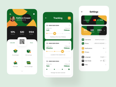 Parcel 📦 Dashboard, Tracker, Settings