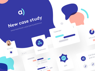 Adversus: Case Study website webpage web design site product page product design web homepage main page landing page identity design identity digital identity crm cards call-management call center branding