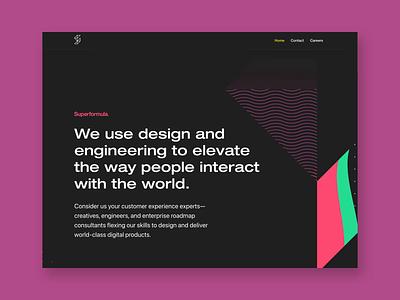 Superformula logo illustration branding ux desktop design web design animation responsive html5