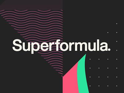Superformula. typography illustration agency branding brand identity brand design branding wordmark logodesign logotype logo