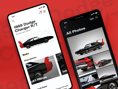 Vehicle Profile: Concept Designs profile page typography branding mobile app design ux gallery car mobile app mobile ui flutter app flutter design ui mobile
