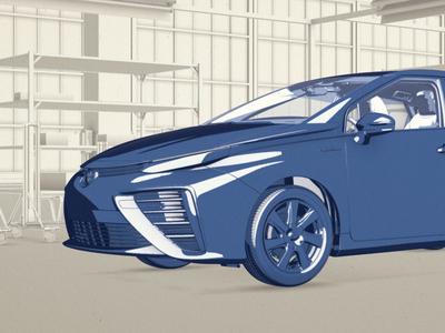 Toyota Mirai hyfn toon render maya illustration car 3d