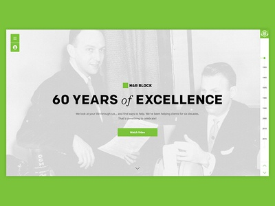 H&R Block: 60th Anniversary hyfn mobile desktop timeline responsive html5 web design