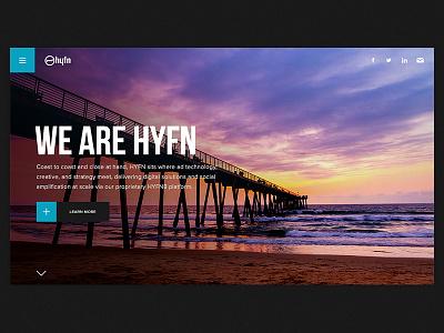 We Are HYFN hyfn portfolio agency mobile desktop timeline responsive html5 web design