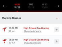 Mobile Class Schedule