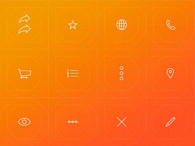 Sirca Navigation: Icon Design android apple ios mobile ui gps maps navigation app