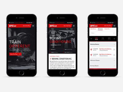 UFC GYM: Website  ui ux rwd html5 desktop mobile responsive website ufc