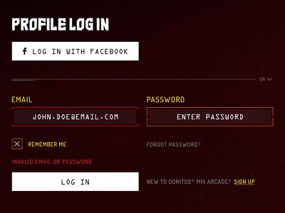 Profile Login Design responsive mobile form login register interface web design design flat ui ui