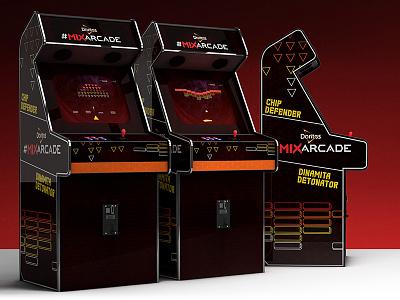 Doritos Mix Arcade c4d mobile html game e3 design cinema4d arcade 3d