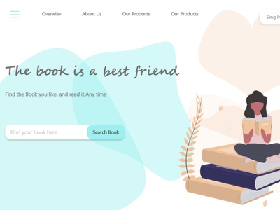 Landing Page graphic design ui