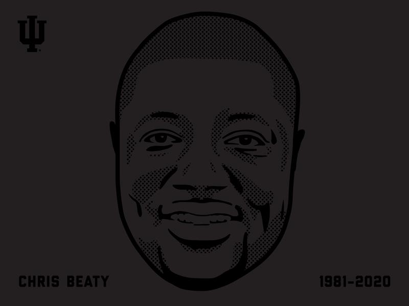 Chris Beaty football indianapolis blm portrait vector illustration