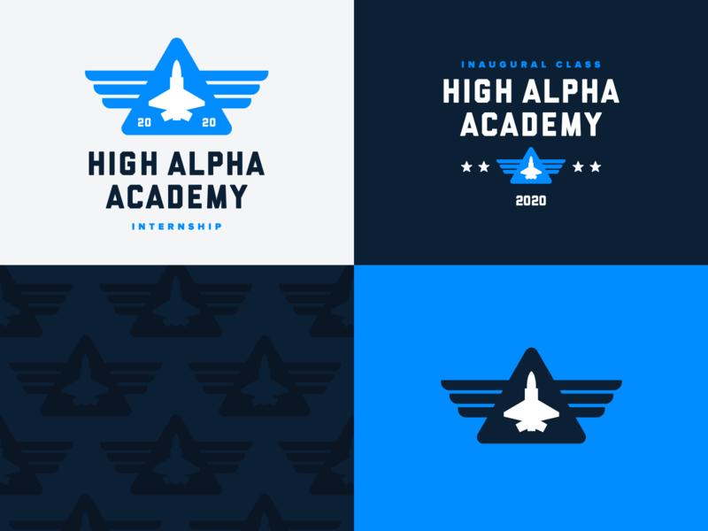 High Alpha Academy branding vector badge design pattern branding logo