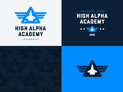 High Alpha Academy branding vector badge design pattern branding logo