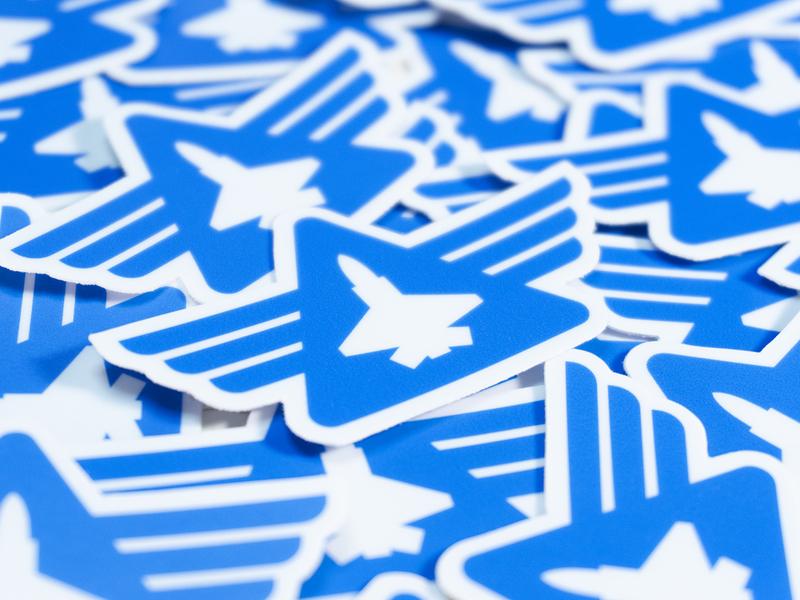 High Alpha Academy stickers high alpha wings branding logo badge