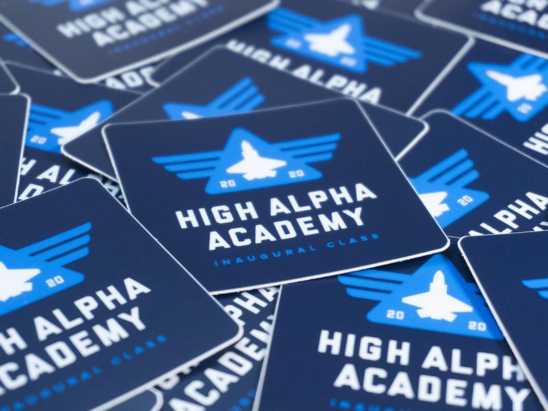 High Alpha Academy stickers (2020 class) wings high alpha stickers branding logo badge