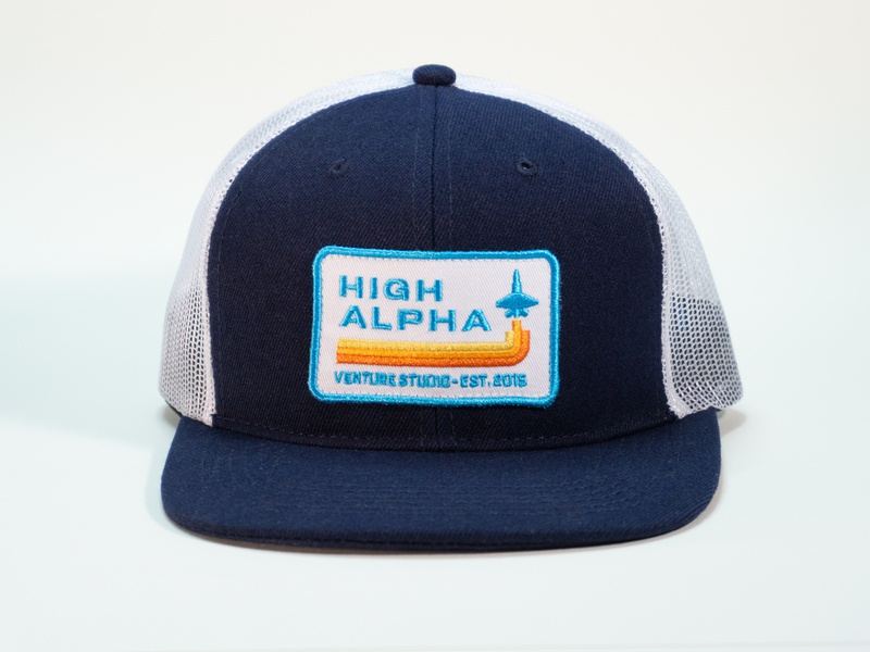 High Alpha flat bill high alpha branding hat badge patch