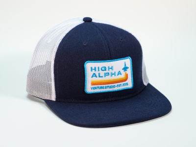High Alpha flat bill high alpha branding hat badge patch