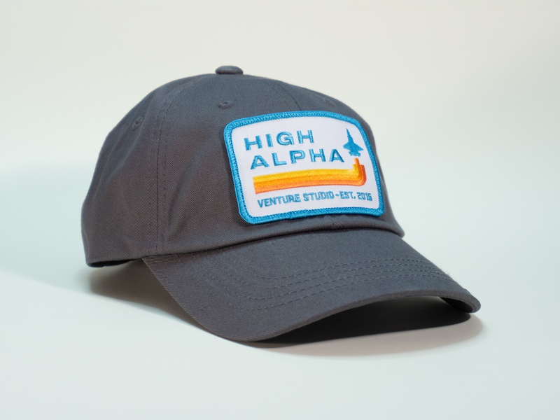 High Alpha dad hat high alpha hat badge patch
