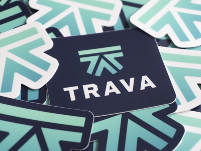 Trava stickers logo mark branding stickers