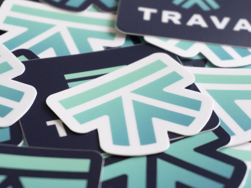 Trava stickers logo mark branding stickers